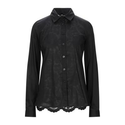 リュー ジョー LIU •JO シャツ ブラック 44 コットン 68% / ナイロン 29% / ポリウレタン 3% / レーヨン シャツ