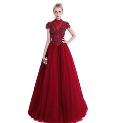 結婚式 披露宴 二次会 パーティー 発表会 イベント用ファッションショウステージカラードレス ウエディングドレス ロング パーティードレス