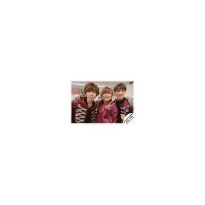 中古生写真(ジャニーズ) ジャニーズJr./七五三掛龍也・山本亮太・宮近海斗/横型・上半身・衣装紫・黒・山本左手ピース・右手