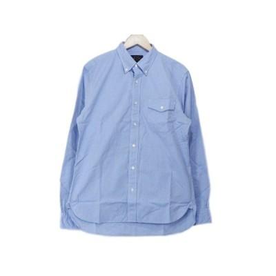 BEAMS ビームス ボタンダウンシャツ ドレスシャツ 青 長袖?M 無地  【中古】70002660