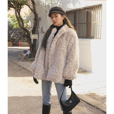 人気 フェイクファー 女性 防寒 毛皮コート おしゃれ ショートコート上着 ジャケット アウター 暖かい 冬物 レディース オフィス OL 通勤
