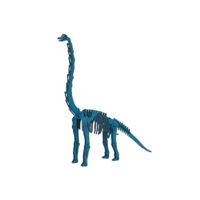 hacomo ハコモ ダイナソー 恐竜 ブラキオサウルス ブルー 青 玩具 おもちゃ 組立式 工作 ダンボール クラフト 春休み GW 夏休み 冬休み 宿題 工作キット