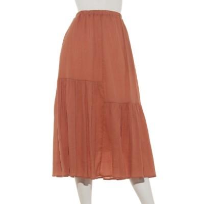 POU DOU DOU (プードゥドゥ) レディース たっぷりギャザースカート オレンジ M