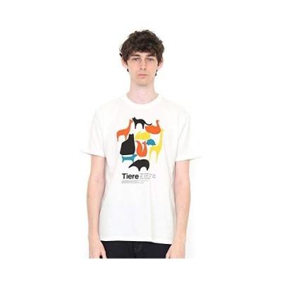 (グラニフ) graniph Tシャツ シンプル アニマルズ (ホワイト) メンズ レディース SS (g100) (g107)