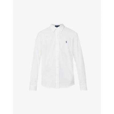 ラルフ ローレン POLO RALPH LAUREN メンズ シャツ トップス Logo-embroidered cotton-piqu shirt WHITE