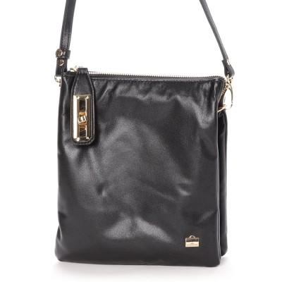 ラ バガジェリー LA BAGAGERIE シープレザー縦型お財布ポシェット (ブラック)