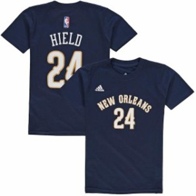 Outerstuff アウタースタッフ スポーツ用品  Buddy Hield New Orleans Pelicans Youth Navy Game Time Flat Name & Number