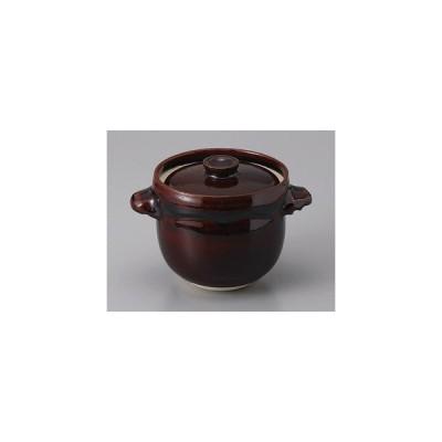 (業務用・土鍋)飴釉かめ型炊飯鍋(1合炊)(入数:1)