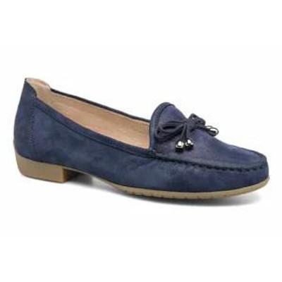 Caprice レディースシューズ Caprice Loafers Lena Blue Ocean Suede Comb