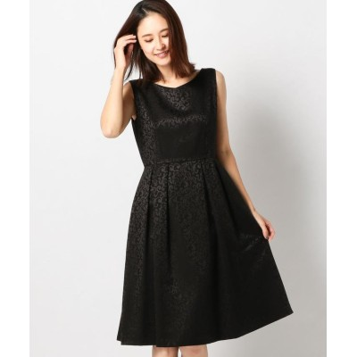 【ミューズ リファインド クローズ】 サテンジャガードドレス レディース クロ M MEW'S REFINED CLOTHES