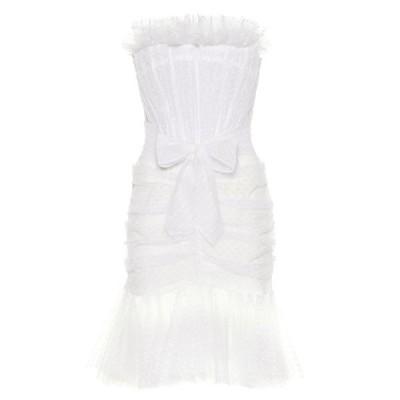 フィロソフィ ディ ロレンツォ セラフィニ Philosophy Di Lorenzo Serafini レディース パーティードレス polka-dot tulle minidress White