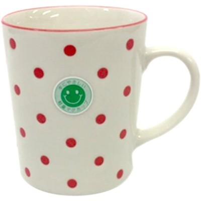 シェーマ 軽量マグカップ 赤 撥水 水玉