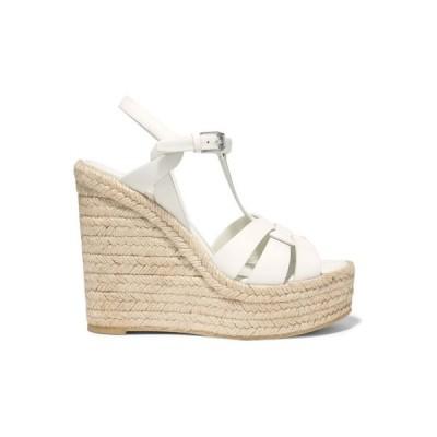 イヴ サンローラン SAINT LAURENT レディース エスパドリーユ シューズ・靴 Tribute leather espadrille wedge sandals