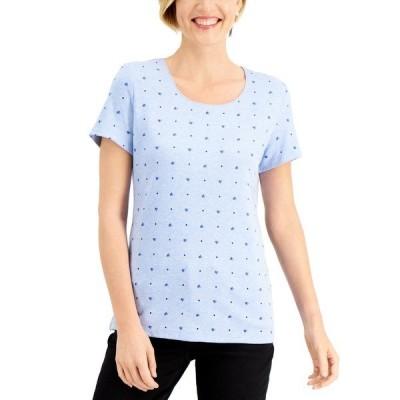 ケレンスコット Tシャツ トップス レディース Love Printed T-Shirt, Created for Macy's Light Blue Heather