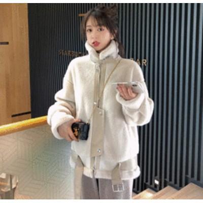 ボアジャケット レディース ボアコート レディース アウター 冬レディース もこもこ ゆったり 韓国 ショート丈 ショートコート ブルゾン