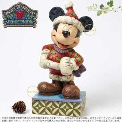 ジムショア メリークリスマス ミッキーマウス ビック サンタ ディズニー 4039042 Merry Christmas Winter Mickey Mouse Large Figurine J
