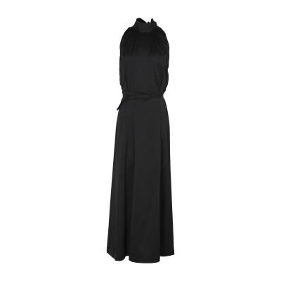 マニュエル リッツ MANUEL RITZ ロングワンピース&ドレス ブラック 40 コットン 55% / レーヨン 42% / ポリウレタン 3%