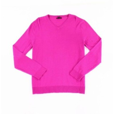 Alfani  ファッション トップス Alfani Mens Raspberry Pink Size 2XL Pullover Knit V-Neck Sweater