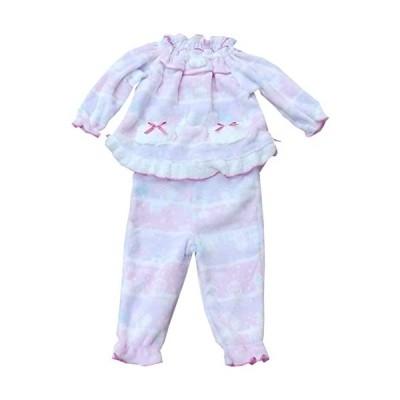 94662-子どもパジャマ-ベビーサイズ【冬物】-80cm-ピンク