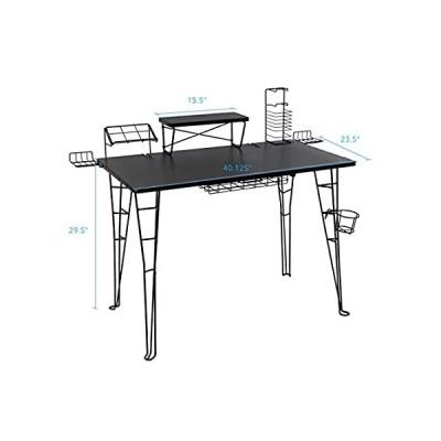 Atlantic Gaming Original Gaming Desk - 32 inch TV Stand, Charging Station,