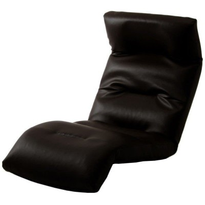 セルタン 座椅子 和楽の雲 下タイプ 幅540×奥行930〜1380×高さ120〜700mm PVCブラック (直送品)