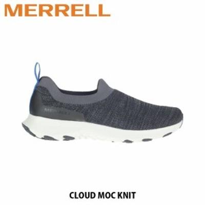 送料無料 メレル MERRELL メレル クラウド モック ニット MERRELL CLOUD MOC KNIT BLACK ブラック メンズ スリッポン スニーカー シュー