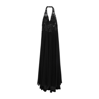 ALLURE ロングワンピース&ドレス ブラック 6 ポリエステル 100% ロングワンピース&ドレス