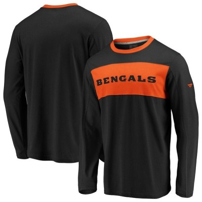 ファナティクス ブランデッド メンズ Tシャツ トップス Cincinnati Bengals NFL Pro Line by Fanatics Branded Long Sleeve Iconic T-Shirt