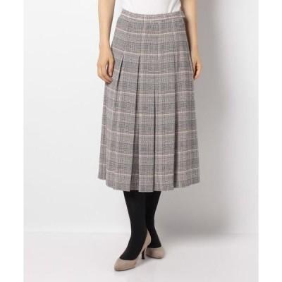 LAPINE BLANCHE / ラピーヌ ブランシュ ワッフルジョーゼット チェックプリントスカート