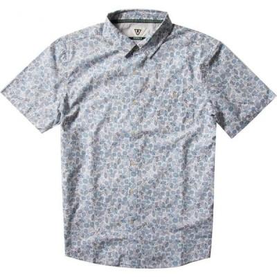 ヴィスラ VISSLA メンズ 半袖シャツ トップス South Point Eco Floral Short Sleeve Organic Cotton Button-Up Shirt Cool Blue