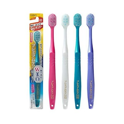 エビス 歯ブラシ プレミアムケア 歯の美白 6列レギュラー ふつう 3本組 色おまかせ