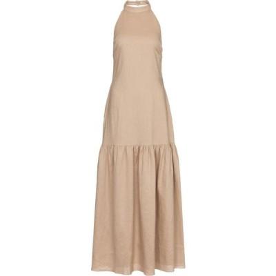 サー SIR レディース ワンピース ミドル丈 ワンピース・ドレス Blanche halterneck linen midi dress Bone