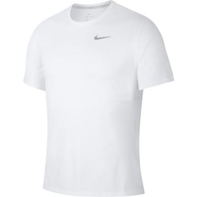 (ナイキ)ブリーズランS/S ウエルネス ランニングシャツ CJ5333−100 WHT
