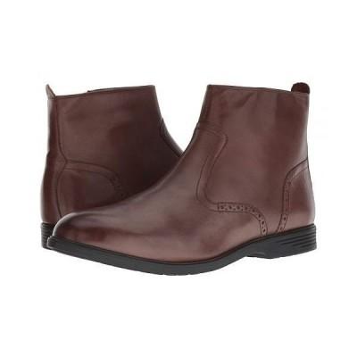 Hush Puppies ハッシュパピーズ メンズ 男性用 シューズ 靴 ブーツ ドレスブーツ Shepsky Zip Boot - Brown Leather