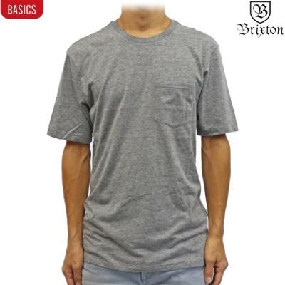 半袖 Tシャツ Brixton ブリクストン Basic S/S Pocket Tee ヘザーグレー サーフ スケート スノー ベーシック メンズ トップス 無地