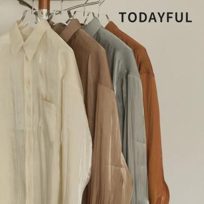 TODAYFUL LIFE'S Crepesatin Over Shirts 12020402 トゥデイフル ライフズ
