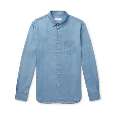 オフィシン ジェネラル OFFICINE GÉNÉRALE Paris 6ᵉ デニムシャツ ブルー XXL テンセル 100% デニムシャツ