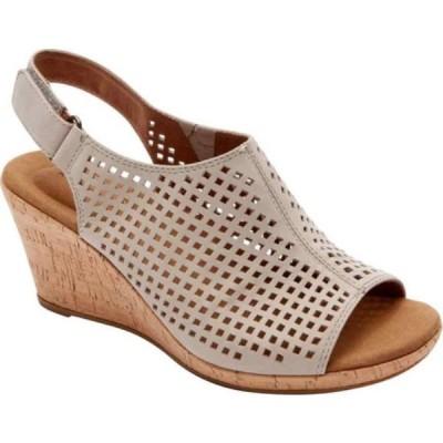 ロックポート Rockport レディース サンダル・ミュール シューズ・靴 Briah Perfed Slingback Taupe Full Grain Leather
