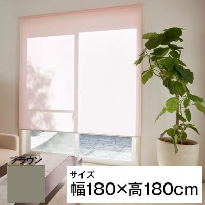 立川機工 ティオリオ ロールスクリーン 遮光2級 180×180 ブラウン メーカー直送