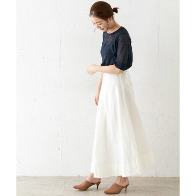 スカート ATON FRONT TUCKED SKIRT