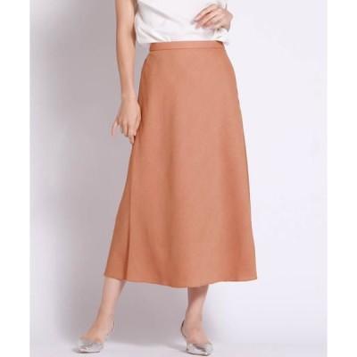 LAUTREAMONT / ロートレアモン 【WEB別注】リネンライクな素材のセミフレアスカート