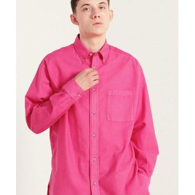 (TOMORROWLAND MENS/トゥモローランド メンズ)オックスブロードコンビ ボタンダウンビッグシャツ ARCHIVE FIT/メンズ 33ピンク