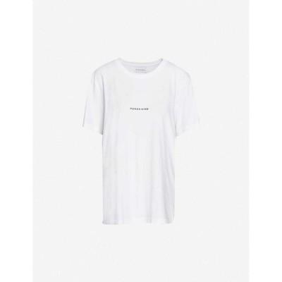 ライリー スタジオ RILEY STUDIO レディース Tシャツ トップス Human Kind recycled and organic cotton T-shirt WHITE