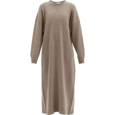 エクストリーム カシミア Extreme Cashmere レディース ワンピース ワンピース・ドレス No. 106 Weird stretch-cashmere dress Mid brown