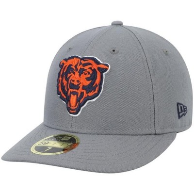 ユニセックス スポーツリーグ フットボール Chicago Bears New Era Alternate Logo Storm Low Profile 59FIFTY Fitted Hat - Graphite