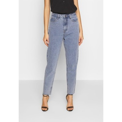 ミスガイデッド デニムパンツ レディース ボトムス STONEWASH RAW HEM - Jeans Tapered Fit - denim blue