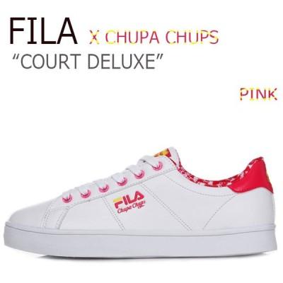 フィラ スニーカー FILA レディース COURT DELUXE X CHUPA CHUPS コートデラックス チュッパチャップス PINK ピンク FS1SIA1250X シューズ