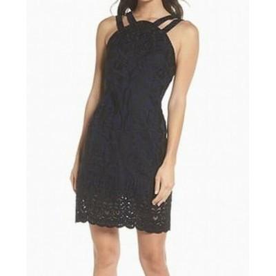 ファッション ドレス Foxiedox NEW Blue Womens Size XS Floral Embroidered Sheath Dress