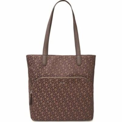 ダナ キャラン ニューヨーク DKNY レディース トートバッグ バッグ logo-jacquard tote Brown