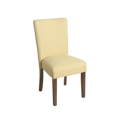 HomePop Parsons Classic Upholstered Accent Dining Chair, Single Pack, Yellow